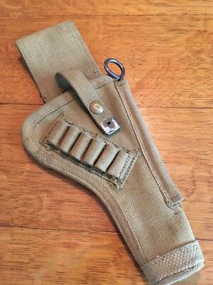 Ww2 Original Canadian Tanker Holster Enfield No2