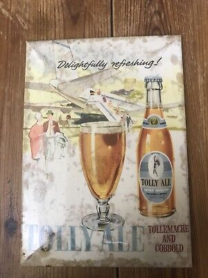 1950s Tolly Cobbold  Beer Display Card