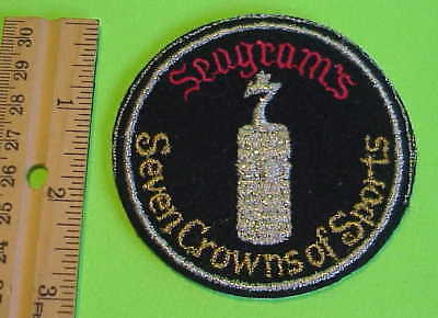 Seagram's Seven Crowns Of Sports Vintage Patch  New  Free Shipping !!!