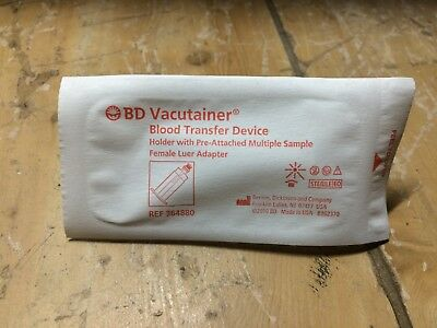 (50) Sealed BD Vacutainer Luer-Lok Access Device w/ Pre-attached Adapter 364902