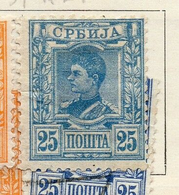 Serbia 1890 Early Issue Fine Mint Hinged 25pa. 267073
