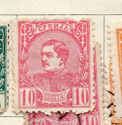 Serbia 1881 Early Issue Fine Mint Hinged 10pa. 267065