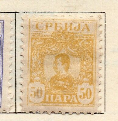 Serbia 1901-02 Early Issue Fine Mint Hinged 50pa. 267049