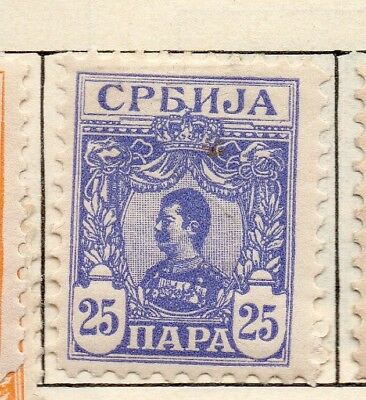 Serbia 1901-02 Early Issue Fine Mint Hinged 25pa. 267048