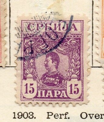 Serbia 1901-02 Early Issue Fine Used 15pa. 267046