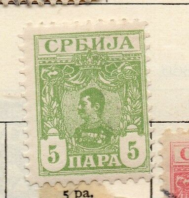 Serbia 1901-02 Early Issue Fine Mint Hinged 5pa. 267044