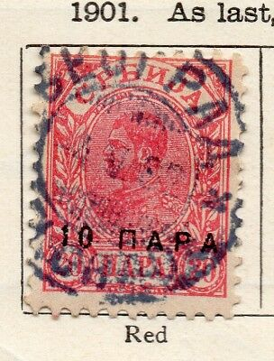 Serbia 1901-02 Early Issue Fine Used 10pa. Surcharged 267042