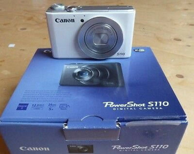 Canon s110 camera, with original box, charger and leads