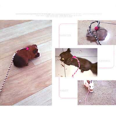 Adjustable Rabbit Hamster Hedgehog Harness Leash Lead for Small Pet Animals