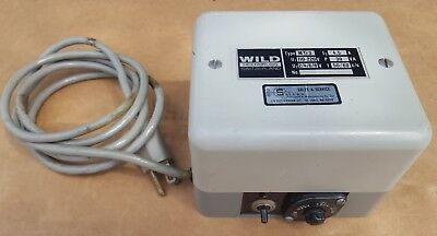 Wild Heerbrugg MTr3 Microscope Light Source Power Supply 110-220V to 2/4/6/8V