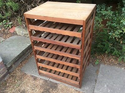 Antique apple rack 6 drawers c1900-1910 pine with ash top 36.4 inches high