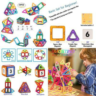 Amosting Present Package Toy Tiles Bricks Kit Magnetic Building Blocks No Tax
