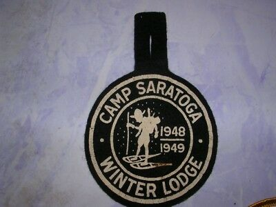1948-1949 Camp Saratoga-Winter Lodge Felt Boy Scout Patch