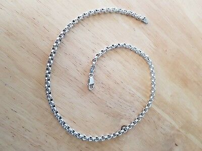 Large Heavy Vintage 925 Sterling Silver Belcher Chain Necklace 44.1 Grams