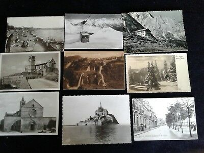 Old Postcards black & White Circa 1900's  Lot of 9