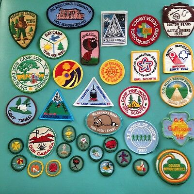 Girl Scout Lot- Badges and Patches