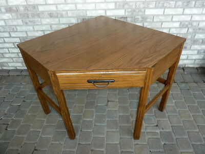 Vtg 1960's Brandt Ranch Oak Corner Student/Computer Desk/Table Formica Top NICE