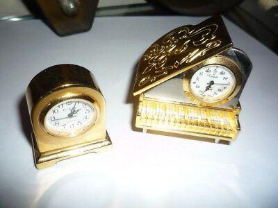 Rare Vintage Piano Displayed Xanadu Clock & Brass Mantel Circa Watch