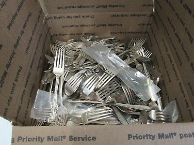 Lot of Assorted Silver Plated Forks 8LBS for Craft or Replacement