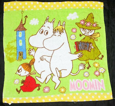 MOOMIN SNUFKIN LITTLE MY Cute Design 34 x 35 cm Green Color COTTON Hand Towel