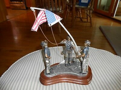 Michael Roche Pewter Sculpture 9/11 Remembered Courage Under Fire 2002 12/100!