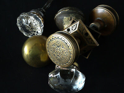 ANTIQUE VINTAGE Assorted LOT of Door Knobs, Draw pulls and hardware.