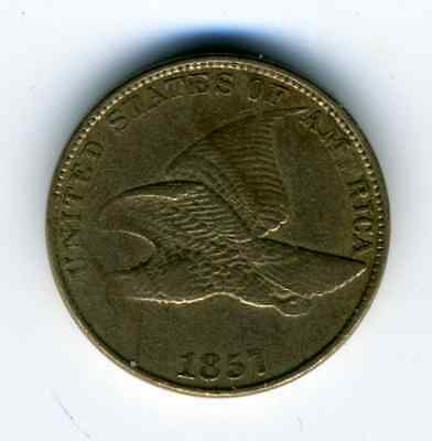 1857 1C Flying Eagle Cent VF/XF