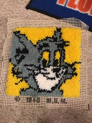 """Latch-Hook Art, Tom the Cat, From Tom & Jerry, 12""""X12"""""""