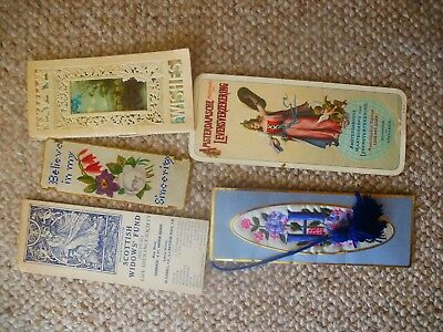 Nice Collection x Five (5) Various Vintage Book Marks All Pictured In The Scans
