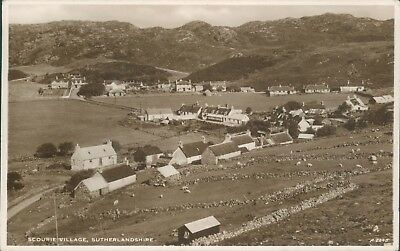 Real photo Scourie village JB white real photo1944