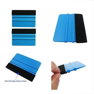 Durable Black Accessories Felt Edge Squeegee 4 Inch For Car Vinyl Film Wrapping