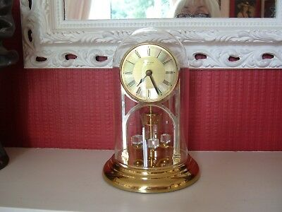 Junghans Vintage Quartz Anniversary/ Glass Dome Clock - For Repair