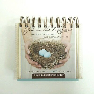 God in the Moment PERPETUAL CALENDAR Ann Voskamp One Thousand Gifts Christian