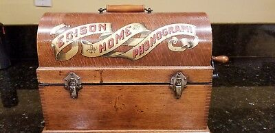 Early Rare Suitcase Model Banner Edison Home Cylinder Player-Phonograph