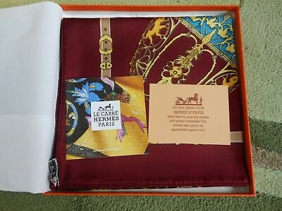 Authentic Hermes Scarf LES MUSEROLLES Vintage 90cm Silk 1980ties