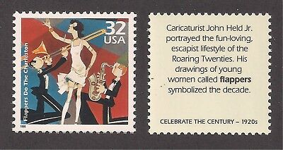 FLAPPERS DANCE CHARLESTON - ROARING 20's - U.S. POSTAGE STAMP - MINT CONDITION