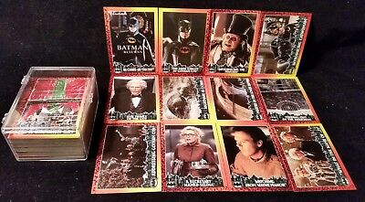 1992 Topps Batman Returns Complete Base Set Of 88 Cards ~ Nm! * *