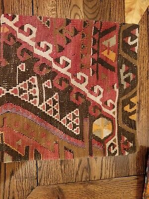 Authentic Turkish kilim pillow cover 16x16