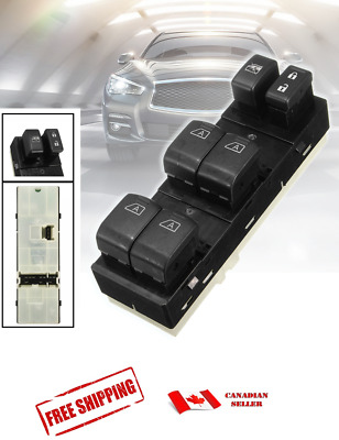 New Front Master Power Window Switch LH Driver Side for Infiniti G35 G37 Q40