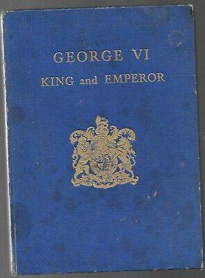 George VI-King & Emperor HB w/out dj-Coronation Book-May 12, 1937