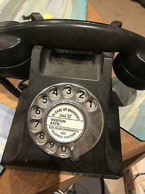 Original L.M Ericsson Bakerlite Telephone from the 60s