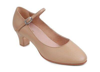 Bloch chord ankle strap character shoes, tan, size 10, NIB