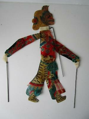 Vintage Fine Leather Chinese Small Shadow Stick Rod Puppet # 5