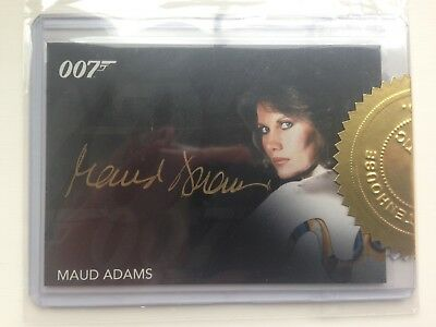 James Bond Archives MAUD ADAMS Gold Sig. autogragh Card Auto incentive Octopussy