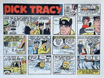 Dick Tracy by Chester Gould - large half-page color Sunday comic - Jan. 23, 1972