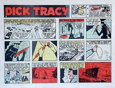Dick Tracy by Chester Gould - large half-page color Sunday comic - Jan. 30, 1972