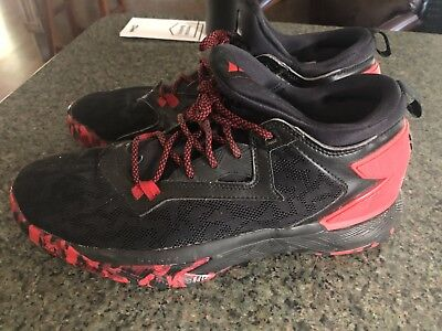 competitive price 9ae2b bf0e6 Men Adidas D Lillard 2 Basketball Shoes Size 12 RedBlack Great Condition