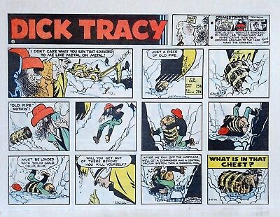 Dick Tracy by Chester Gould - large half-page color Sunday comic, March 5, 1972