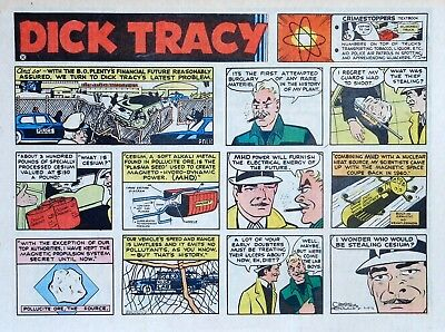 Dick Tracy by Chester Gould - large half-page color Sunday comic, March 19, 1972