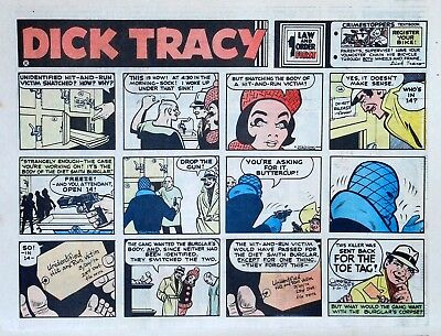 Dick Tracy by Chester Gould - large half-page color Sunday comic, March 26, 1972